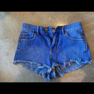 Size 25 high rise jean shorts
